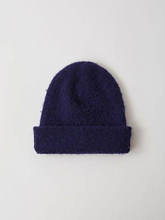 45f42cac081088 Acne Studios FN-UX-HATS000007 Indigo blue Doube layer beanie