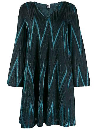 M Missoni Vestido com padronagem chevron - Azul