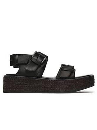 2e9f4c7cd1eb Ann Demeulemeester Ann Demeulemeester Woman Suede Platform Sandals Black  Size 36