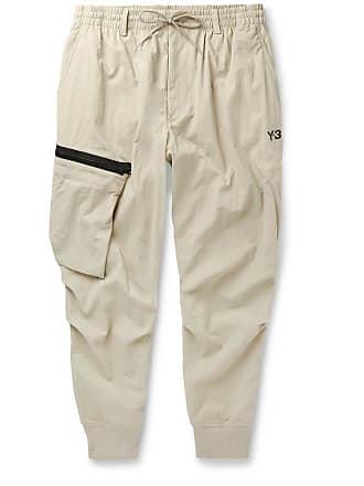 75d98ef4794 Yohji Yamamoto Tapered Nylon Cargo Trousers - Beige