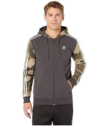 8199ca1ad adidas Originals Camo Full-Zip Hoodie (Utility Black) Mens Sweatshirt