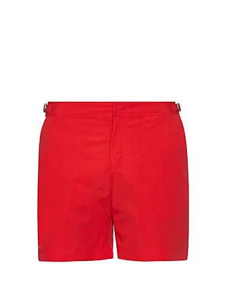 Orlebar Brown Bulldog Mid Length Swim Shorts - Mens - Red