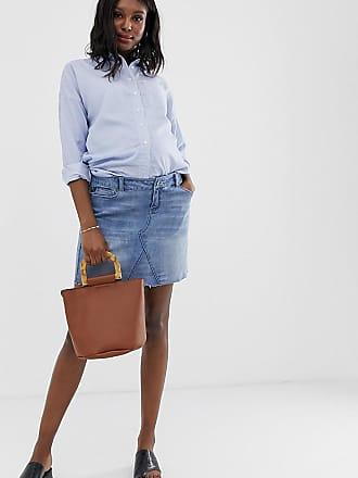 408df7840458d Bandia Maternity denim mini skirt with removeable band - Blue