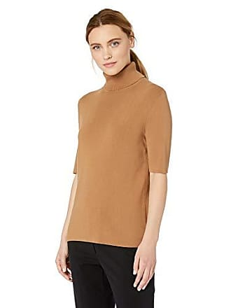Anne Klein Womens Half Sleeve Turtleneck Sweater, Vicuna M