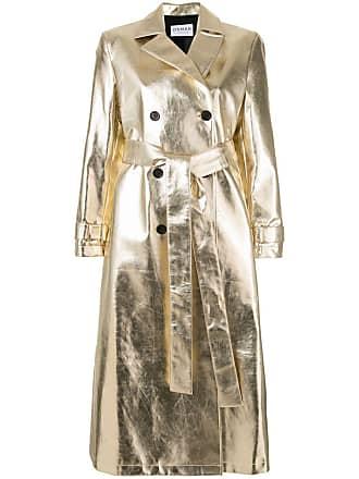 Osman Trenchcoat com abotoamento duplo metálico - Dourado