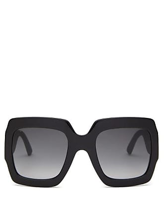 Gucci Gg Square Glitter Acetate Sunglasses - Womens - Black