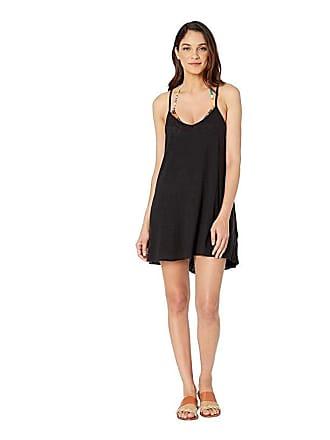 9ba37d7c84 Vitamin A Paloma Knit Mini Dress Cover-Up (Ecocotton Black) Womens Swimwear