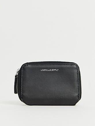 208af7a98b Asos Portafoglio mini nero in pelle sintetica con zip e goffratura - Nero
