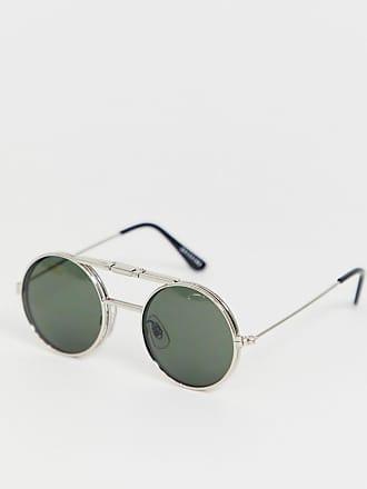 a2c732d483131 Spitfire Lennon - Lunettes de soleil rondes à monture basculante - Vert -  Doré
