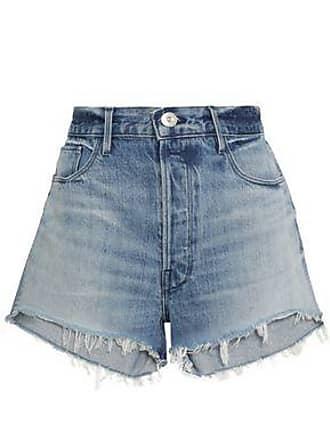 3x1 Woman Carter Chereen Frayed Denim Shorts Mid Denim Size 29