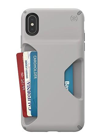 SPECK Cathedral Grey/Smoke Grey Presidio Wallet iPhone XS Max Case