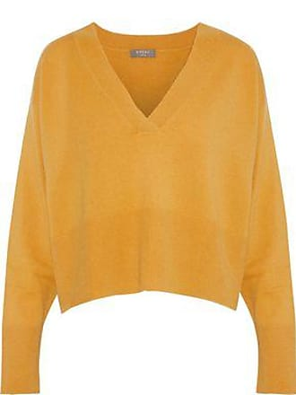 N.Peal N.peal Woman Cropped Cashmere Sweater Mustard Size XL