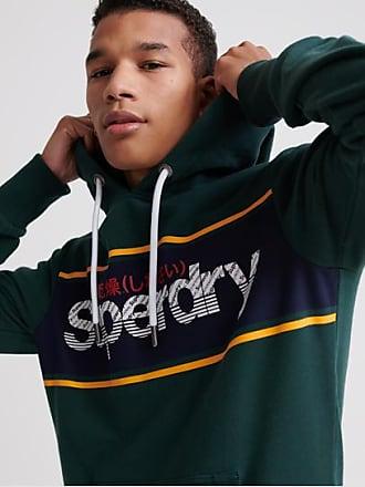 Superdry Core Logo Stripe Loopback Hoodie