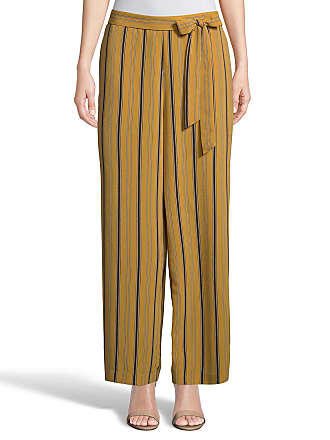 5twelve Striped Tie-Waist Ankle Straight-Leg Pants