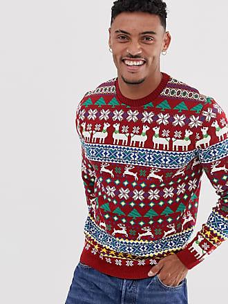 Asos Kerstmis - Trui met lama-ontwerp-Rood