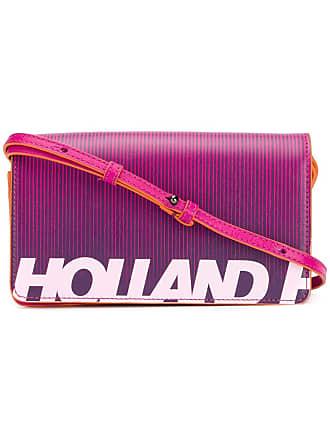 House Of Holland Bolsa transversal com logo - Rosa