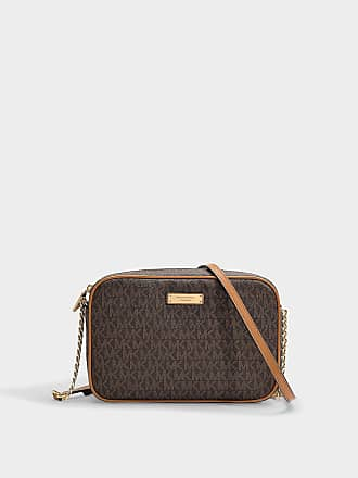 Michael Michael Kors Grand Sac East West Crossbody en Cuir de Veau Grainé  Marron ea9031a1100