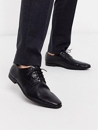 Topman derby shoe in black