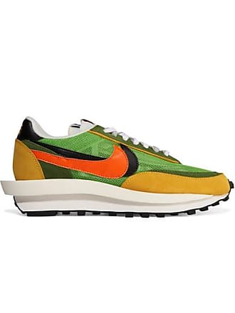 d0ae6621b4918 Nike + Sacai Ldv Waffle Daybreak Mesh, Suede And Leather Sneakers - Green