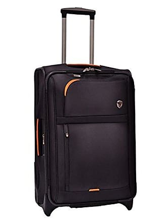 Travelers Choice Birmingham Lightweight Expandable Rugged Rollaboard Rolling Luggage - Black (25-Inch)