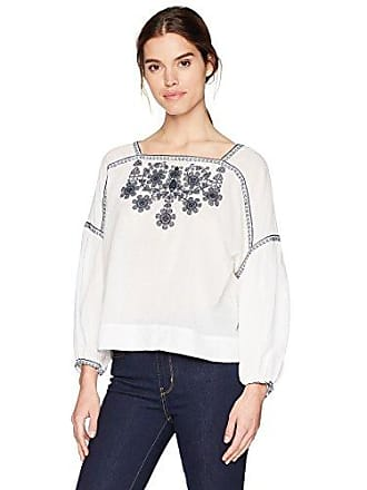 Max Studio Womens Long Sleeve Floral Embroidery Blouse, LMI Dk Navy, XS