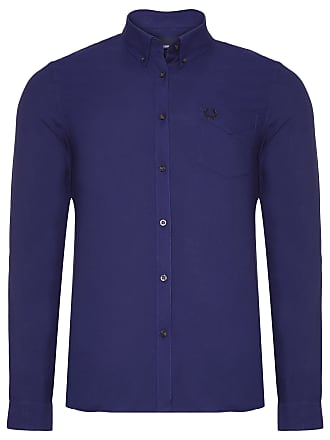 Fred Perry CAMISA MASCULINA BUTTON DOWN - AZUL