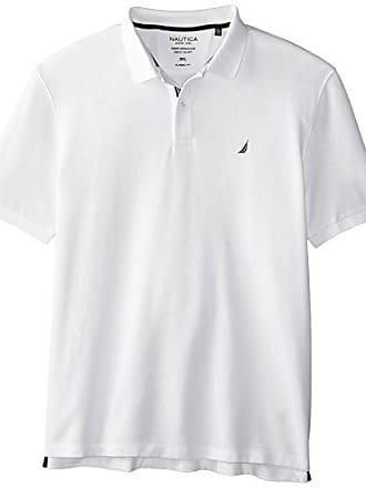 Nautica Mens Short Sleeve Solid Deck Polo, Bright White, XXX-Large