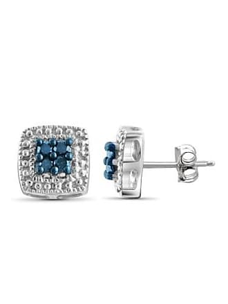 JewelersClub JewelersClub 1/10 Carat T.W. Blue Diamond Sterling Silver Earrings