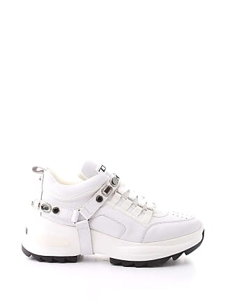 b2e1ab85ea Cult WOMENS CLE104067BIANCO WHITE LEATHER SNEAKERS