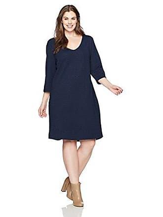f9b12968545f0 Junarose Womens Plus Size V-Neck Three Quarter Sleeve Dress
