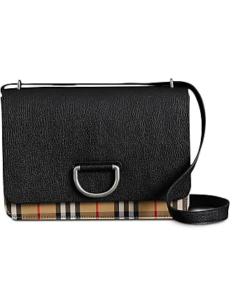62192451fac8 Burberry The Medium Vintage Check and Leather D-ring Bag - Black