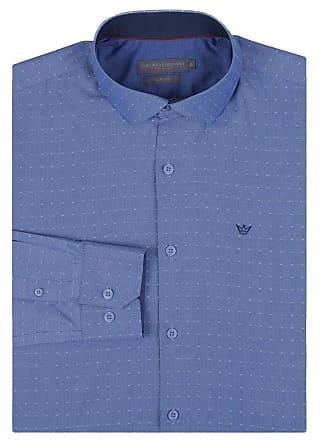 Colombo Camisa Social Masculina Azul Detalhada 49942 Colombo