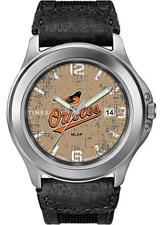 Timex Timex Watch Mens Old School Baltimore Orioles Silver-Tone/black/natural Item Twzborimcyz