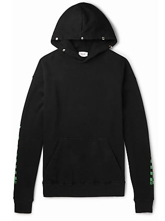 Rhude Oversized Printed Loopback Cotton-jersey Hoodie - Black