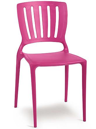 Tramontina Cadeira Sofia com Encosto Vertical Rosa