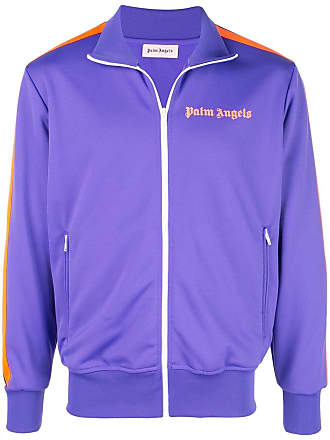Palm Angels contrast stripe bomber jacket - Purple