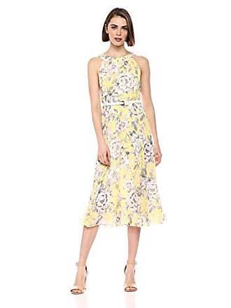6b56fe37745 Tommy Hilfiger Womens Coin TOSS Chiffon Long Dresses, Sunshine Multi, 8