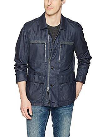 John Varvatos Mens Field Jacket, Blue Heather Large