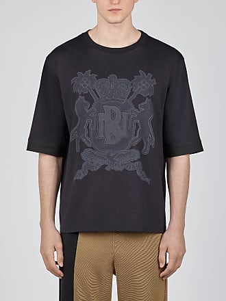 Neil Barrett Coat Of Arms Print Rolled Up Jersey T-shirt