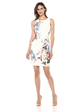 ad0f8589267 Ivanka Trump Womens Sleeveless Printed Scuba Crepe Dress