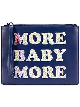 Christopher Kane Bolsa clutch More Baby More de couro - Azul