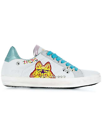 Zadig & Voltaire wolf print sneakers - White