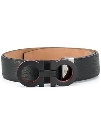 Salvatore Ferragamo double Gancio belt - Black