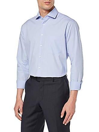 4752bab11849 Seidensticker Modern Langarm mit Kent Kragen Soft Gepunktet, Camicia  Formale Uomo, Blu (Blau