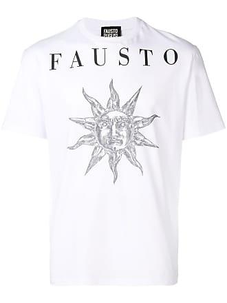 FAUSTO PUGLISI Camiseta com estampa de logo - Branco