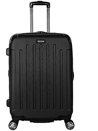 Kenneth Cole Reaction Kenneth Cole Reaction Renegade 24-Inch Lightweight Hardside 8-Wheel Spinner Expandable Checked Suitcase, Black