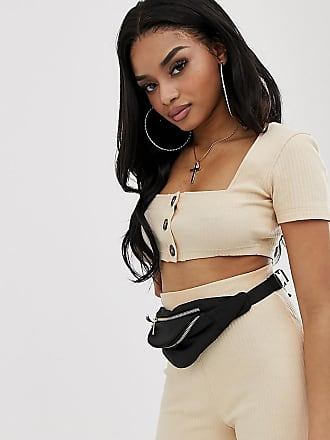 Missguided co-ord square neck crop top in cream