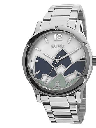 Euro Relógio Euro Analógico Feminino Aço Madrepérola Prata - EU2035YCY 3K  Largura da Caixa ( 9891e73ae0