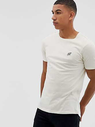 6dbd5093 Another Influence Muscle Fit Stretch Long line Curved Hem Logo T-Shirt -  Green