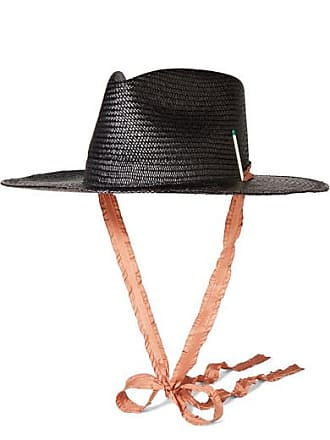 f385a6fefcd Nick Fouquet + Brock Collection Nick 1 Embellished Straw Fedora - Black